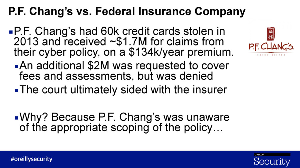 ▪P.F. Chang's had 60k credit cards stolen in 20...
