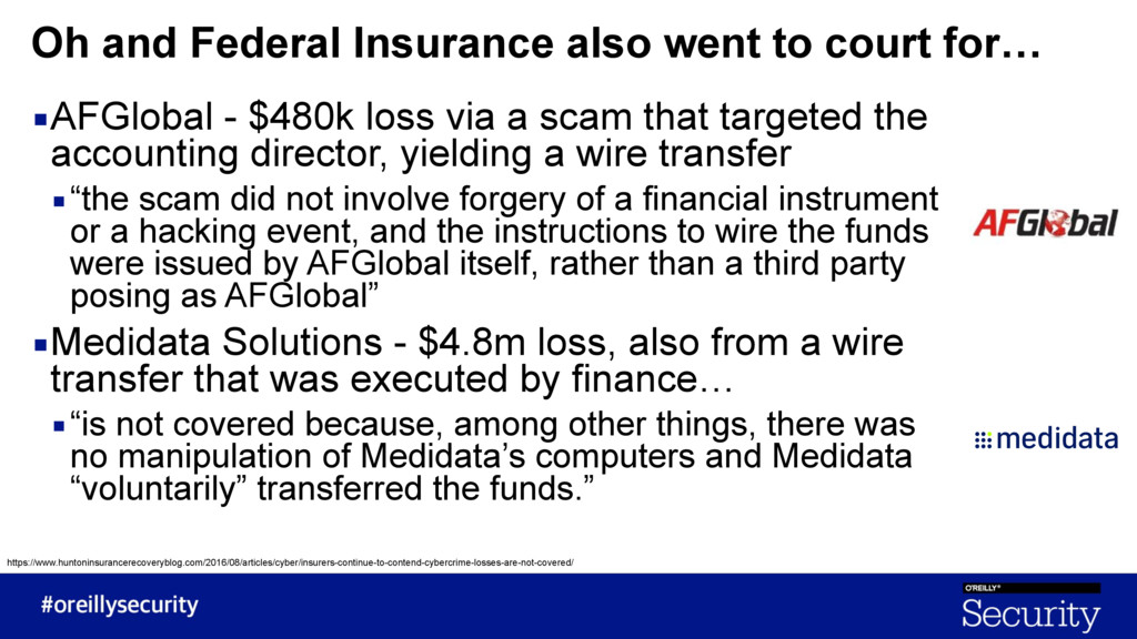 ▪AFGlobal - $480k loss via a scam that targeted...