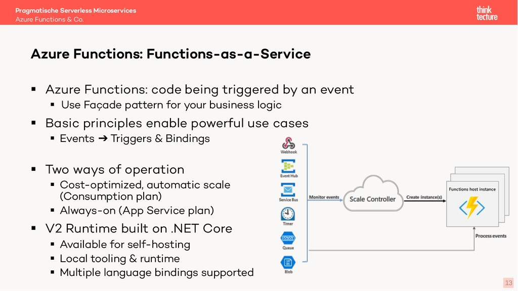 13 § Azure Functions: code being triggered by a...