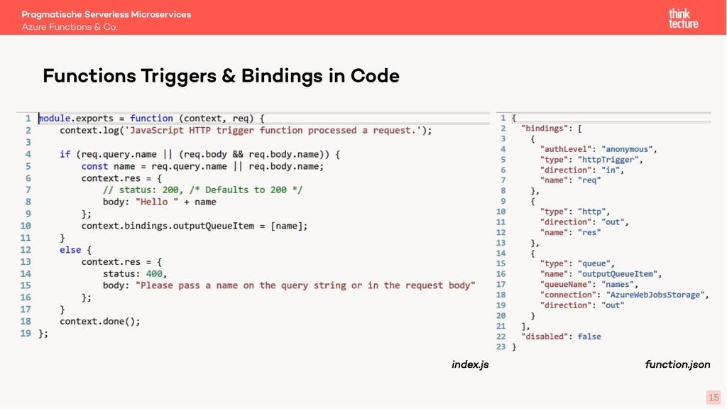 15 Functions Triggers & Bindings in Code Azure ...
