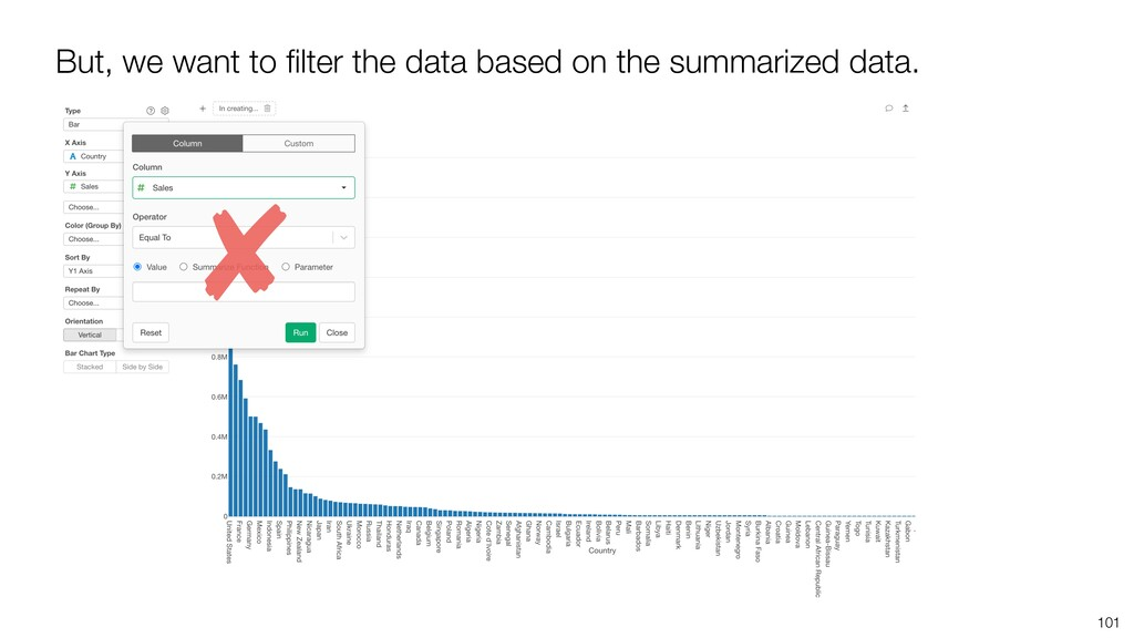 101 But, we want to filter the data based on the...