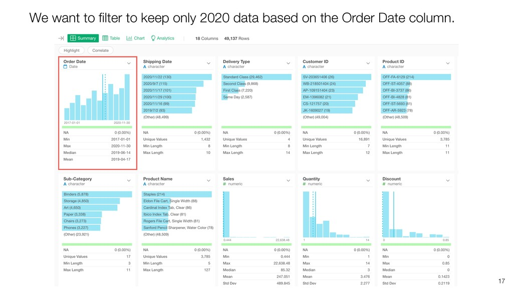 17 We want to filter to keep only 2020 data base...