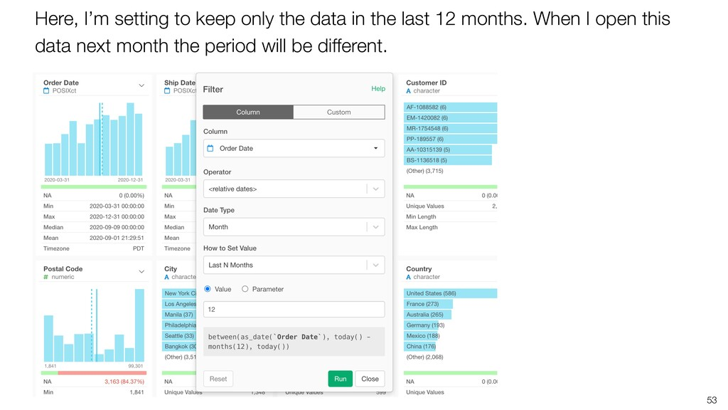 53 Here, I'm setting to keep only the data in t...