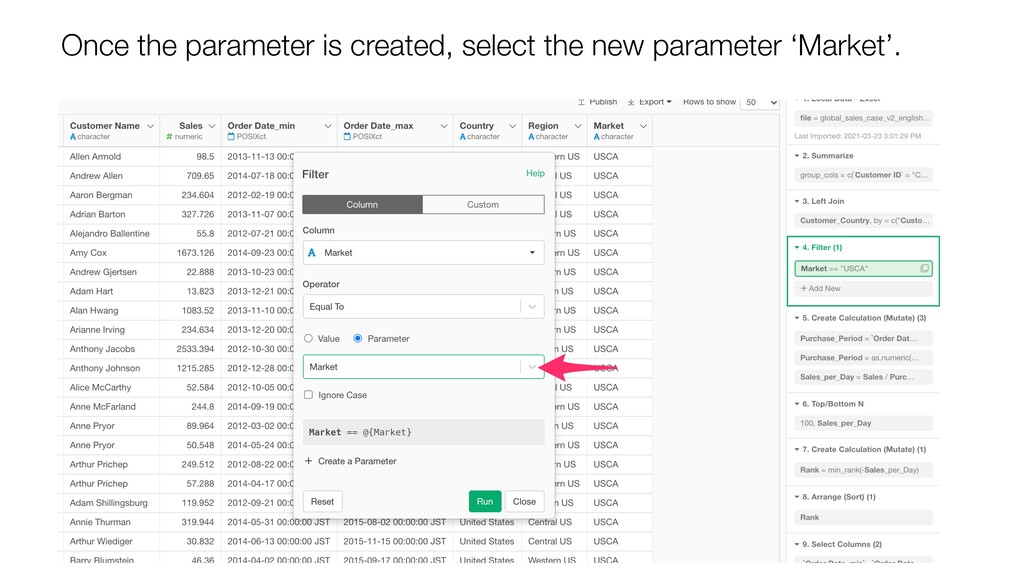 Once the parameter is created, select the new p...