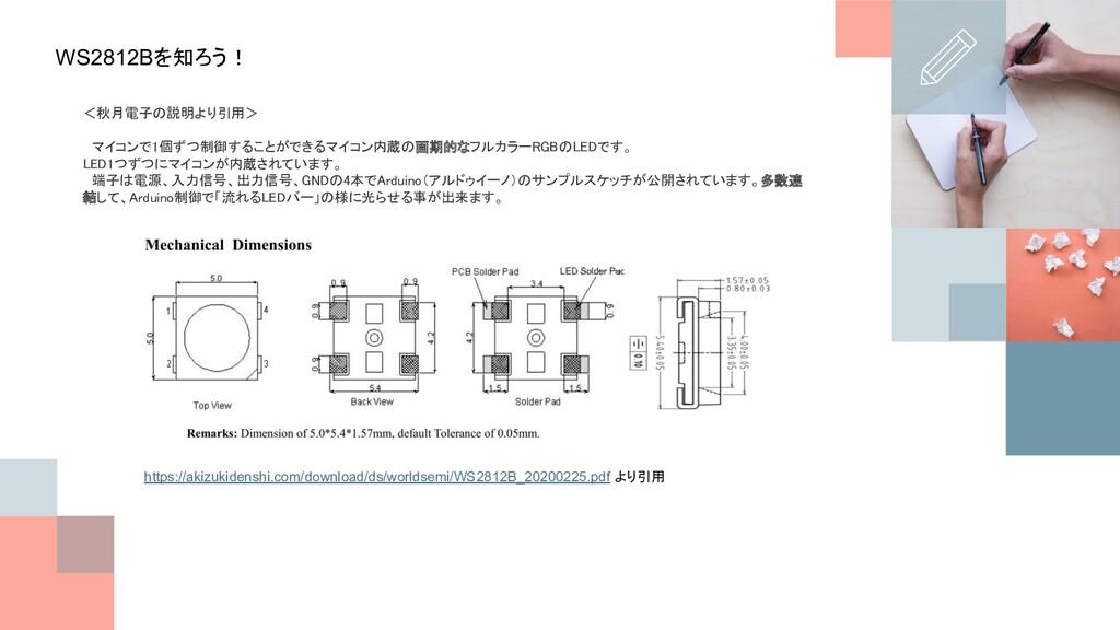 WS2812Bを知ろう! <秋月電子の説明より引用>   マイコンで1個ずつ制御することが...
