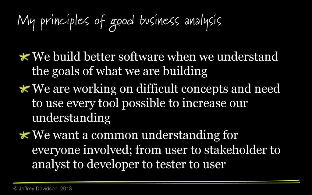 © Jeffrey Davidson, 2013 My principles of good ...