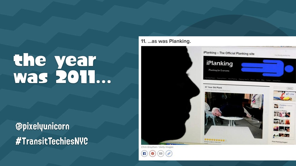 the year