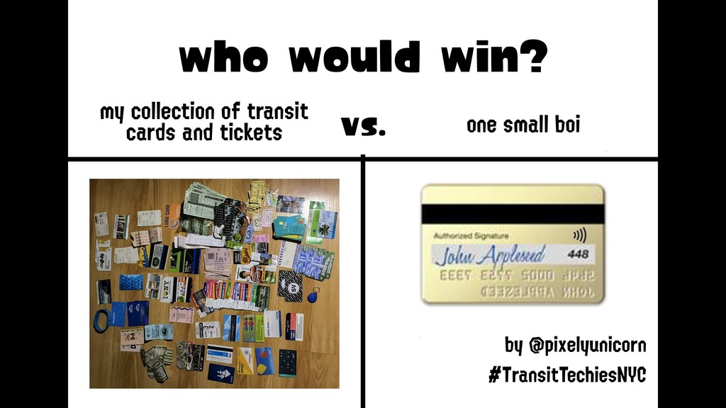 who would win? my collection of transit cards ...