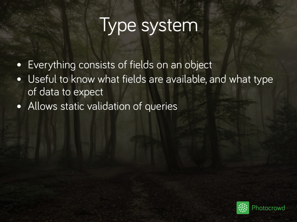 Type system • Everything consists of fields on ...