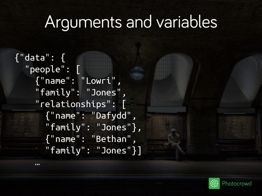 """Arguments and variables {""""data"""": { """"people"""": [ ..."""