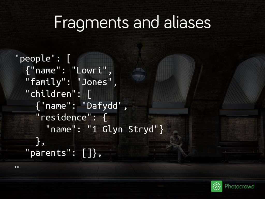 """Fragments and aliases """"people"""": [ {""""name"""": """"Low..."""