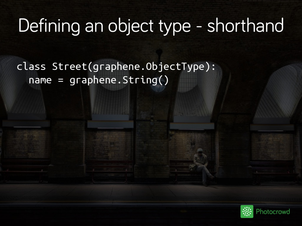 Defining an object type - shorthand class Stree...