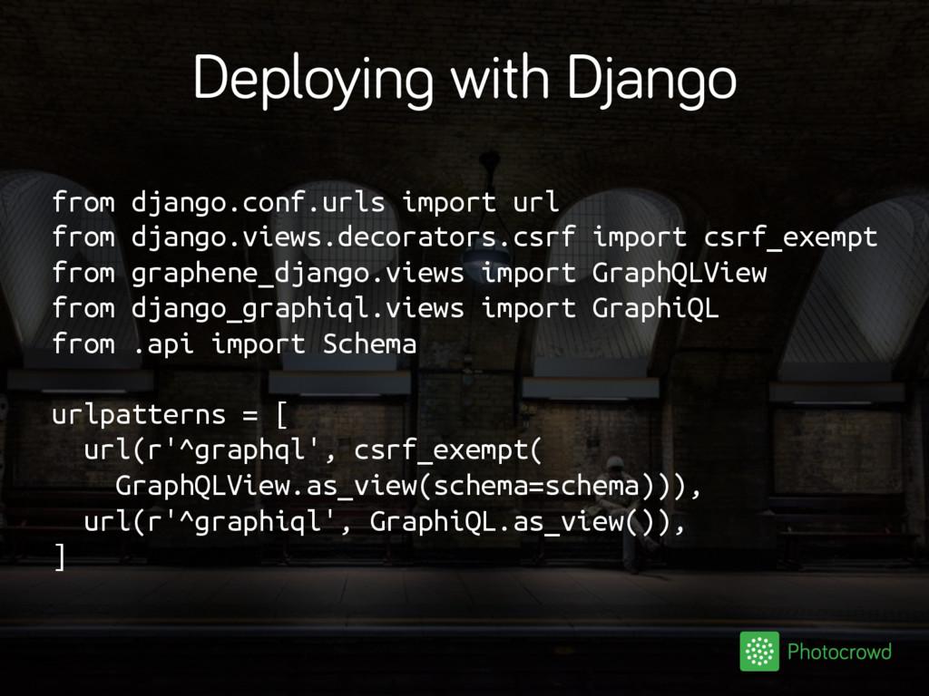 Deploying with Django from django.conf.urls imp...
