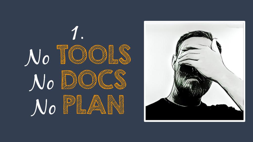 TOOLS DOCS PLAN
