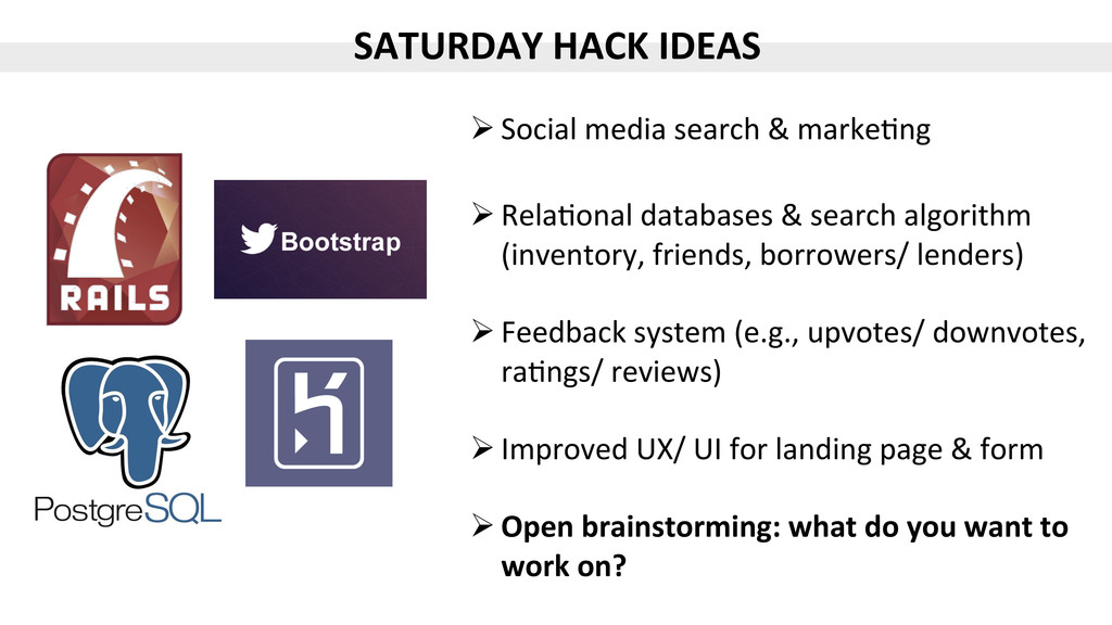 SATURDAY$HACK$IDEAS$ ! Social%media%search%&%ma...
