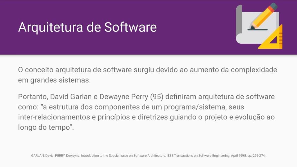 Arquitetura de Software O conceito arquitetura ...