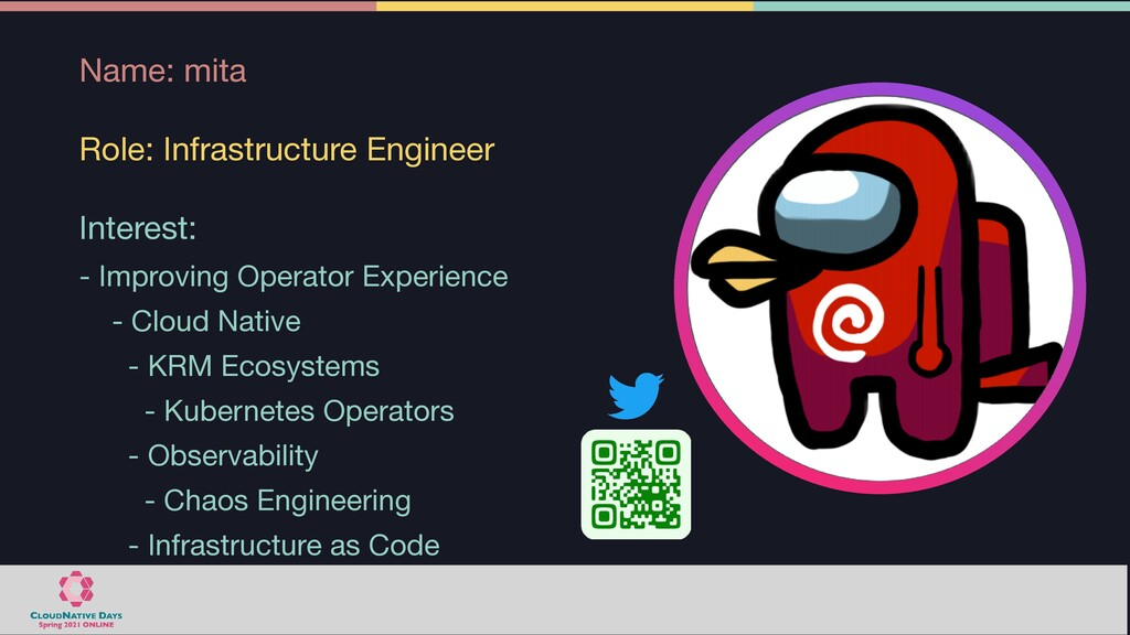 Name: mita  Role: Infrastructure Engineer  Inte...