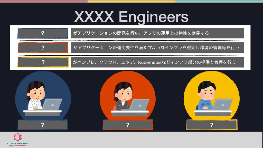 XXXX Engineers ͕ΞϓϦέʔγϣϯͷ։ൃΛߦ͍ɺΞϓϦͷӡ༻্ͷಛੑΛఆٛ͢Δ ...