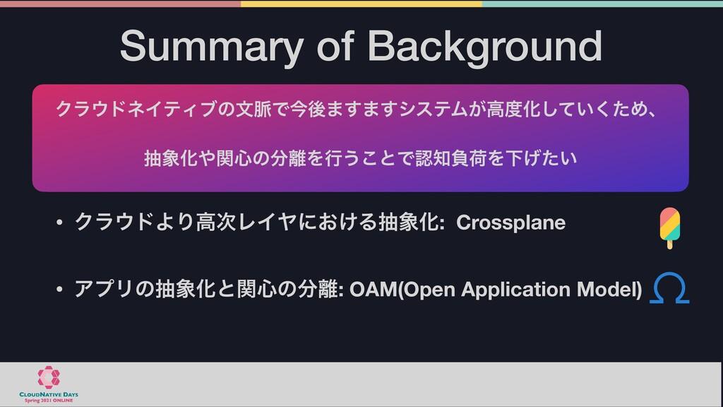 Summary of Background • ΫϥυΑΓߴϨΠϠʹ͓͚ΔநԽ: Cro...