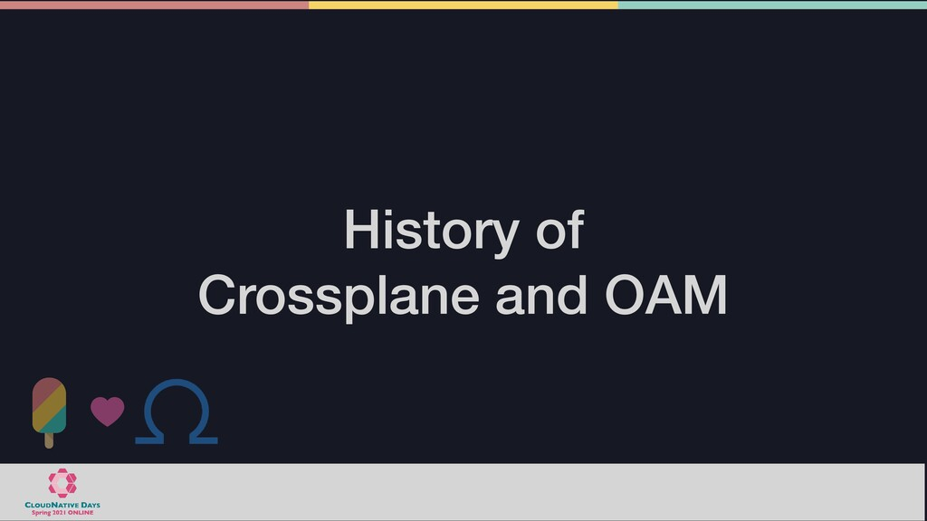 History of   Crossplane and OAM