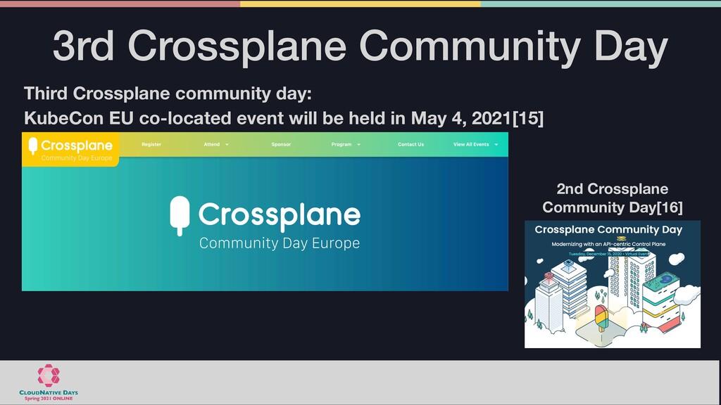 3rd Crossplane Community Day Third Crossplane c...