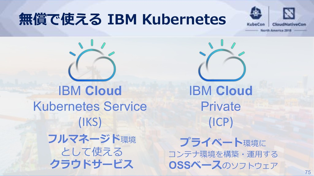 75 IBM Cloud Kubernetes Service (IKS) IBM Cloud...