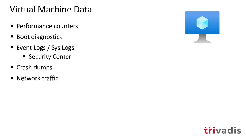 Virtual Machine Data ▪ Performance counters ▪ B...