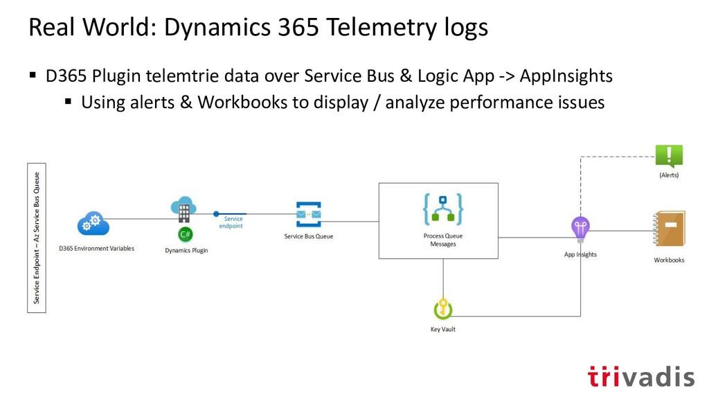 Real World: Dynamics 365 Telemetry logs ▪ D365 ...