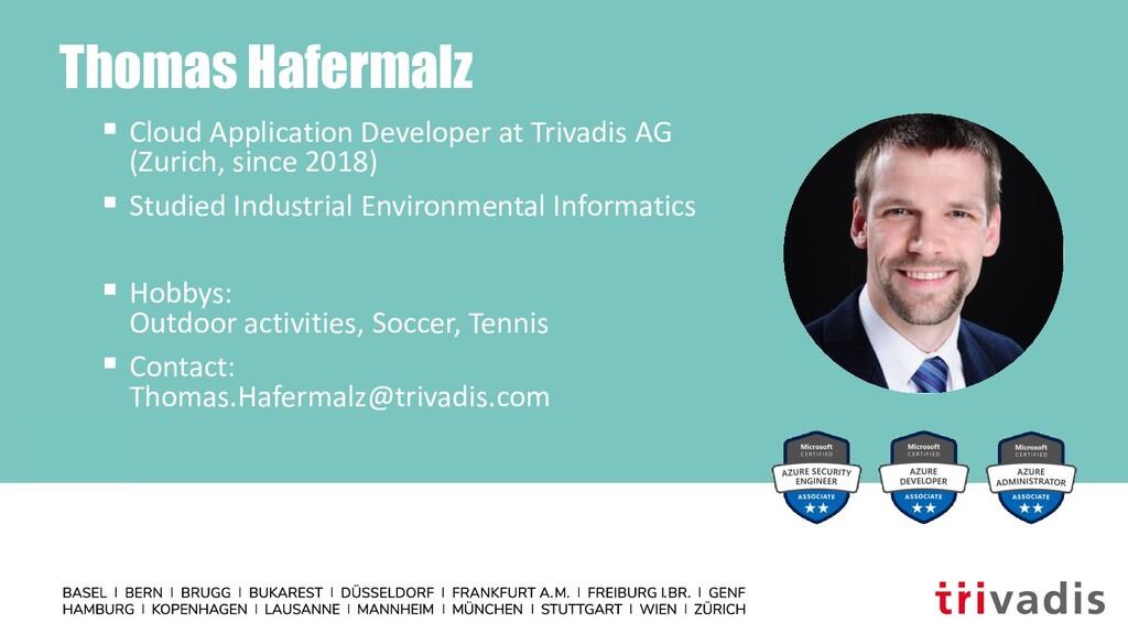 Thomas Hafermalz ▪ Cloud Application Developer ...