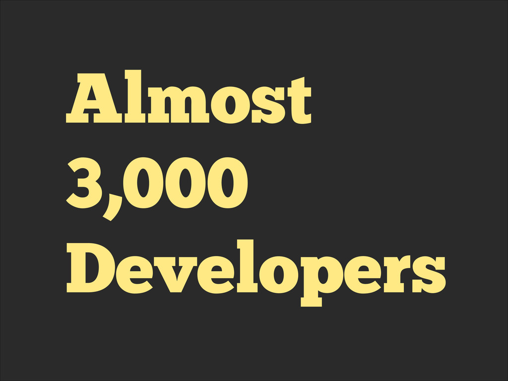 Almost 3,000 Developers