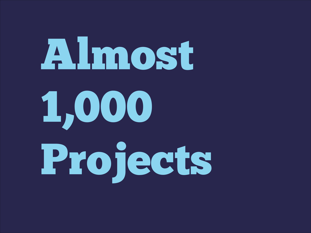 Almost 1,000 Projects