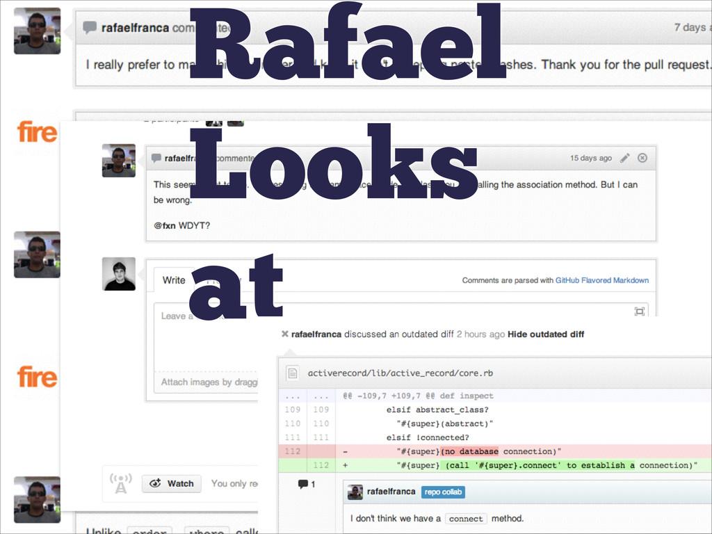 Rafael Looks at