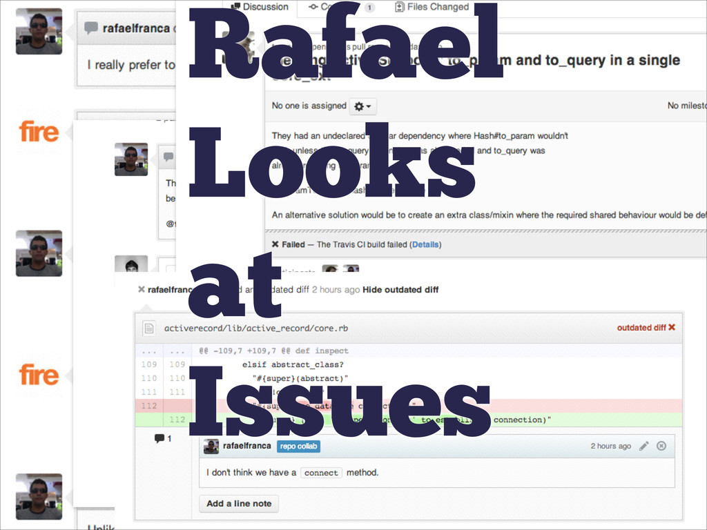Rafael Looks at Issues