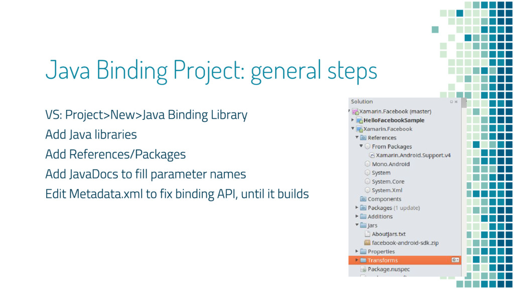 Java Binding Project: general steps