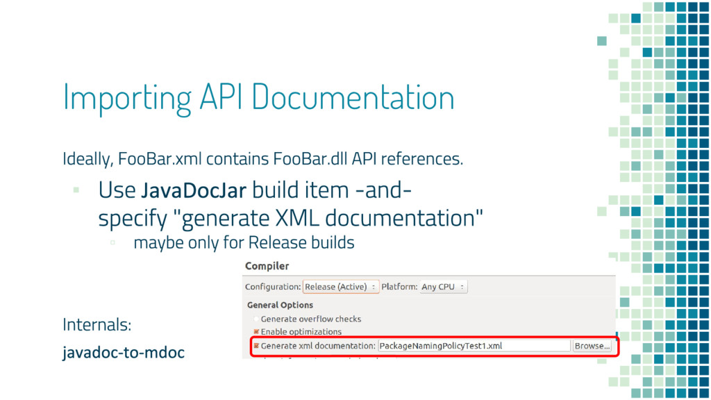 Importing API Documentation ▪ ▫