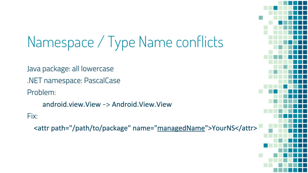 Namespace / Type Name conflicts