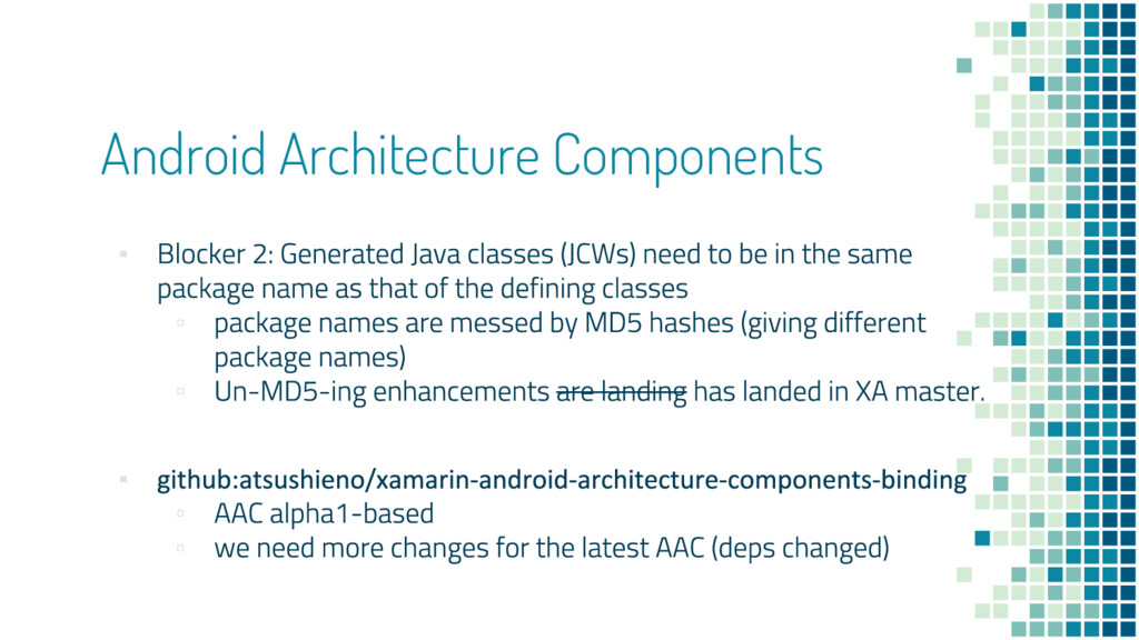 Android Architecture Components ▪ ▫ ▫ ▪ ▫ ▫