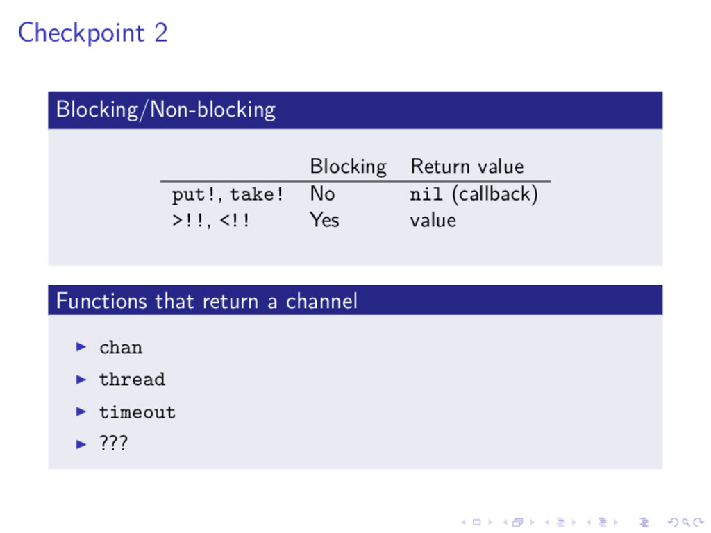 Checkpoint 2 Blocking/Non-blocking Blocking Ret...