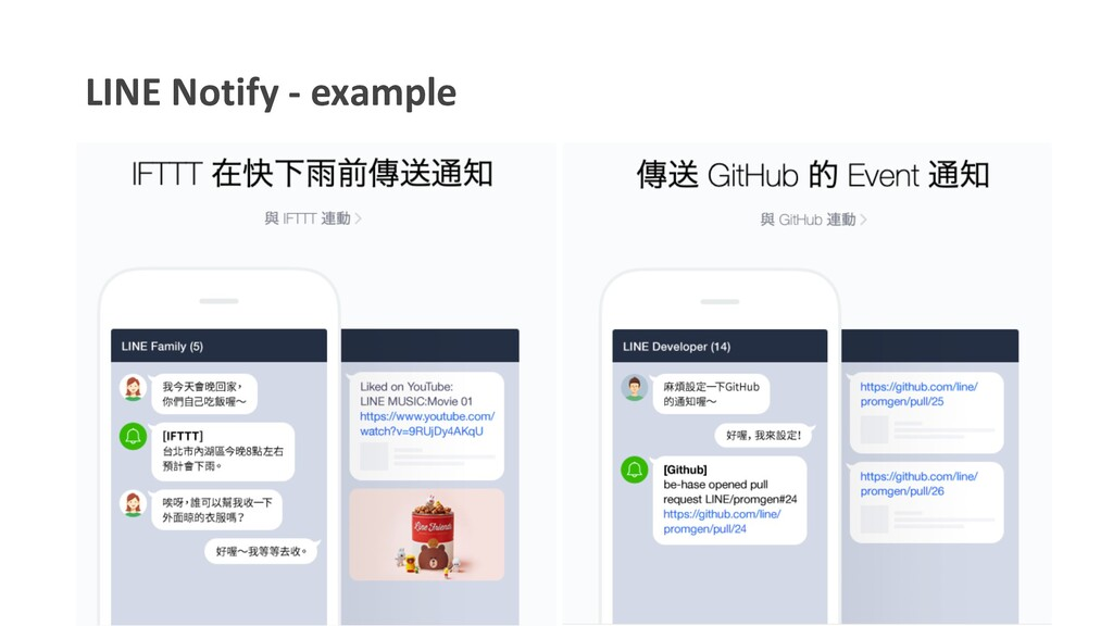 LINE Notify - example