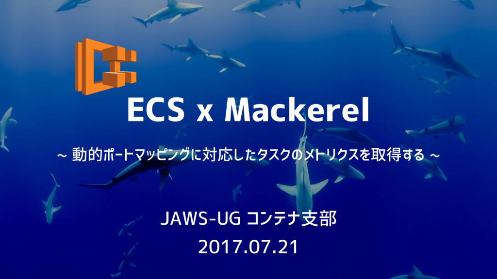 ECS x Mackerel JAWS-UG コンテナ支部 2017.07.21 ~ 動的ポー...