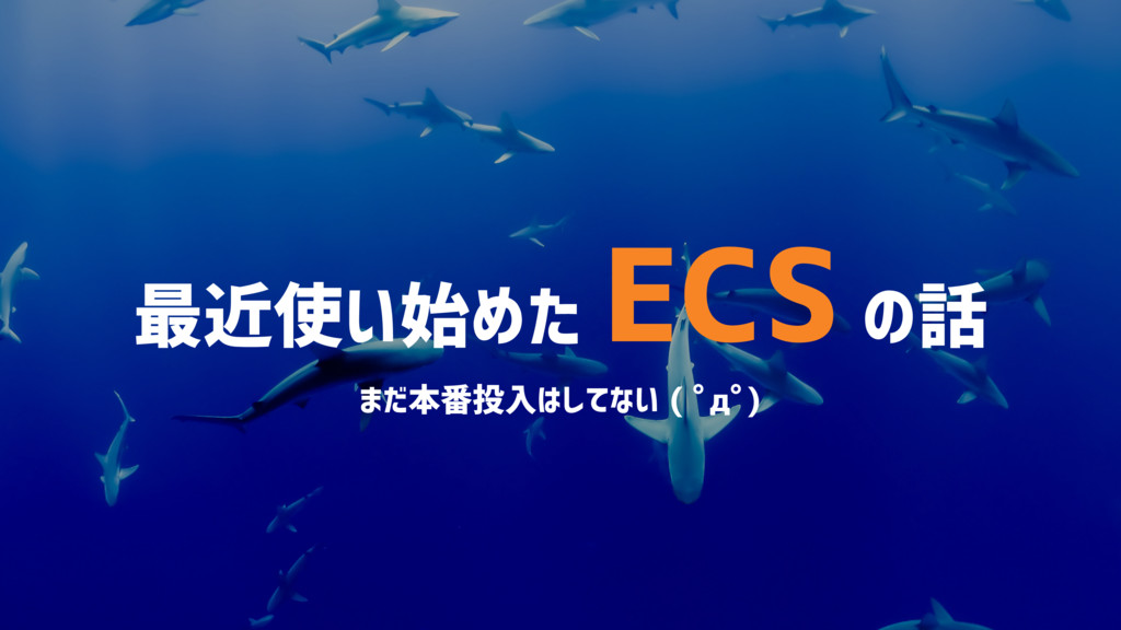 最近使い始めた ECS の話 まだ本番投入はしてない ( ゚д゚)