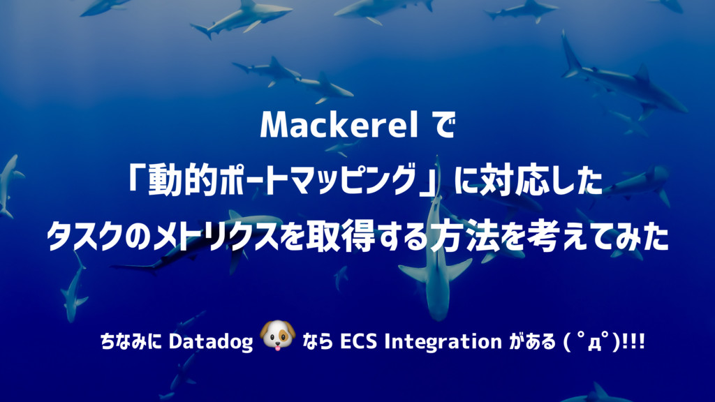 Mackerel で 「動的ポートマッピング」に対応した タスクのメトリクスを取得する方法...
