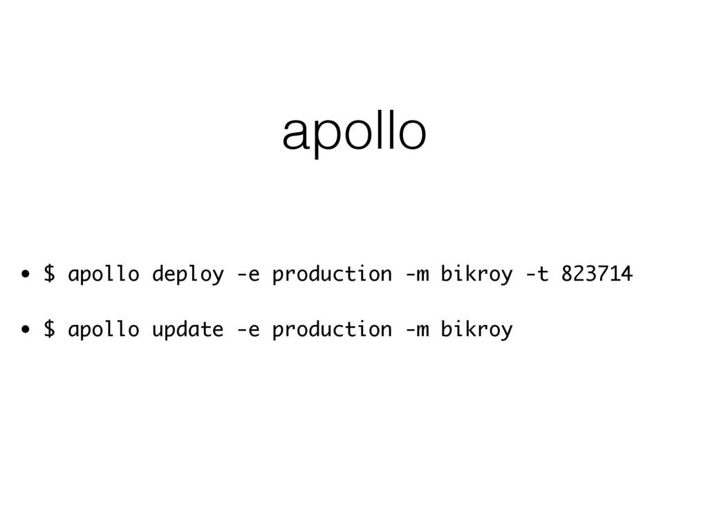 apollo • $ apollo deploy -e production -m bikro...