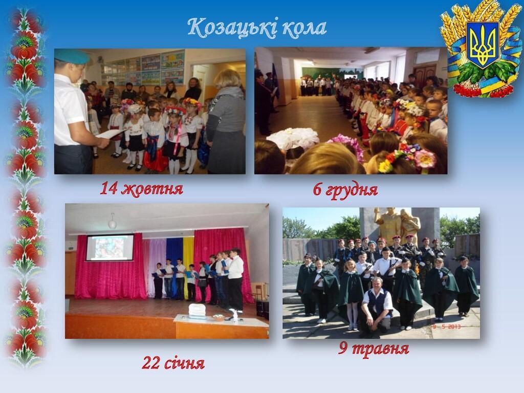 Козацькі кола 14 жовтня 22 січня 6 грудня 9 тра...