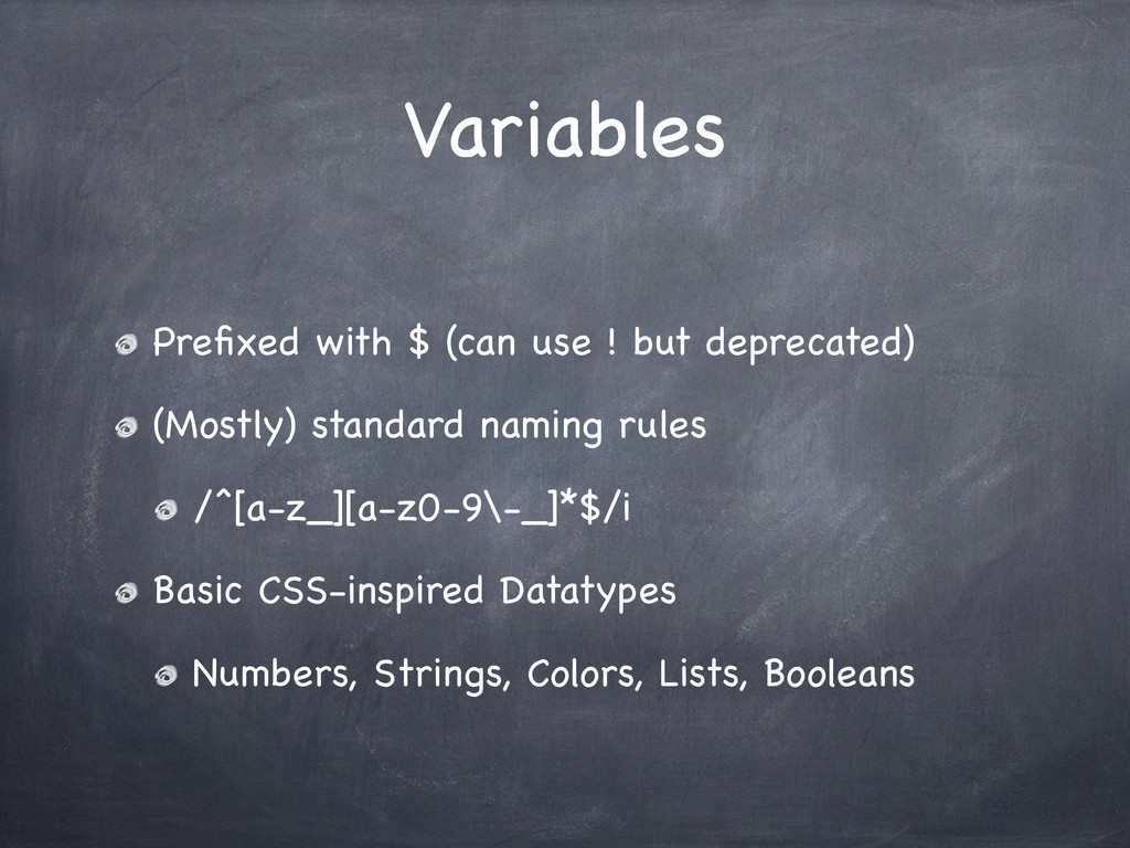 Variables Prefixed with $ (can use ! but depreca...