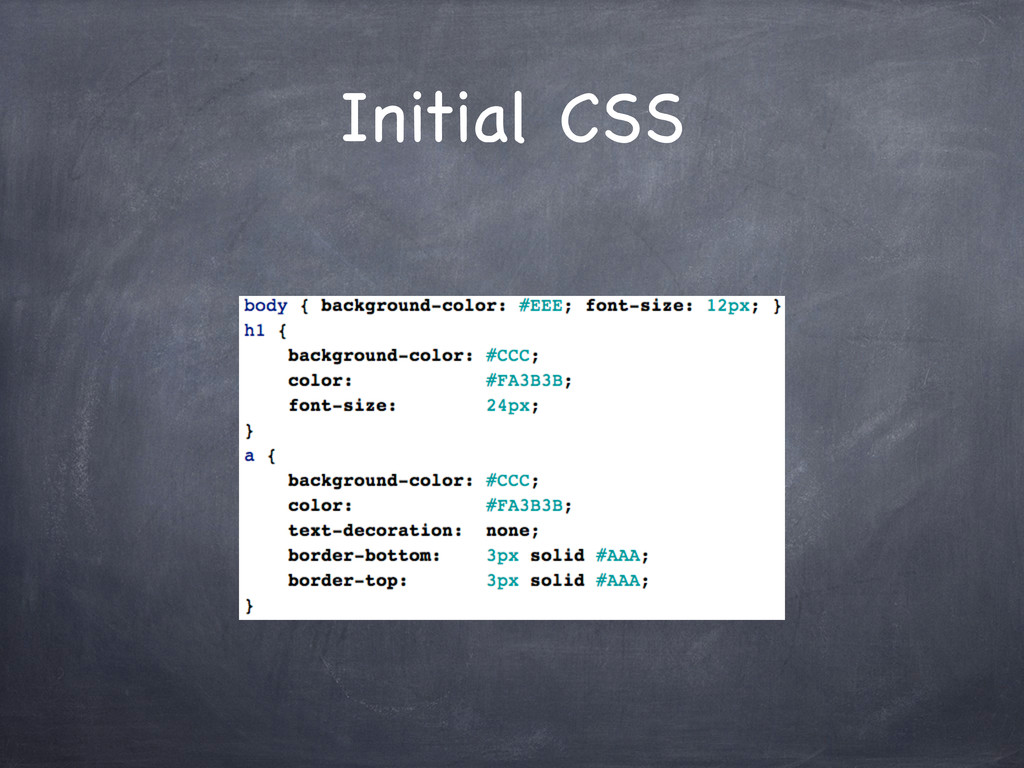 Initial CSS