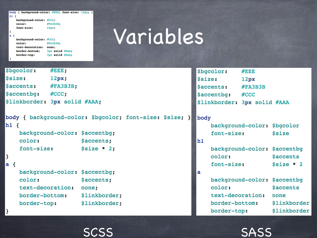 Variables SCSS SASS
