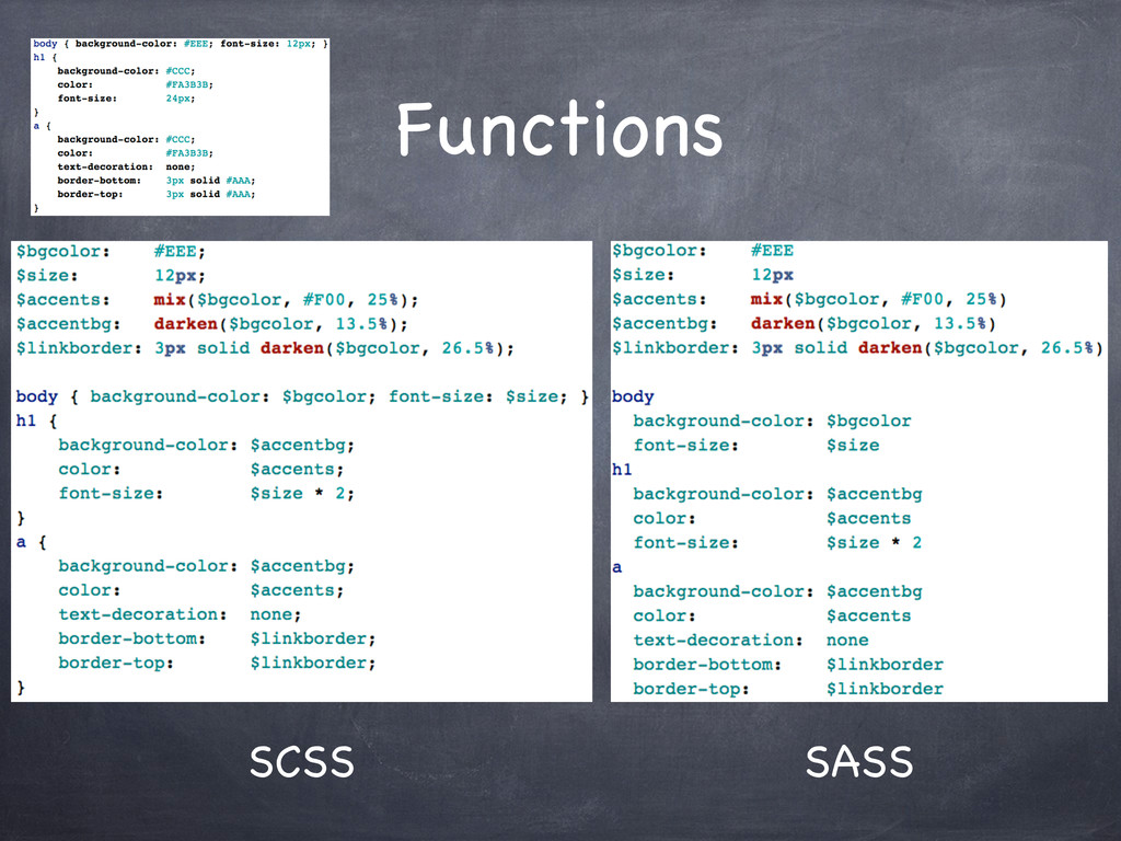 Functions SCSS SASS