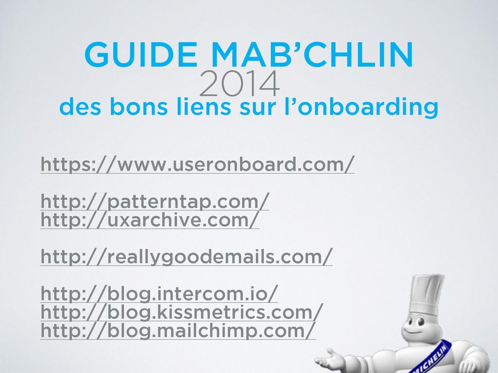 2014 GUIDE MAB'CHLIN des bons liens sur l'onboa...