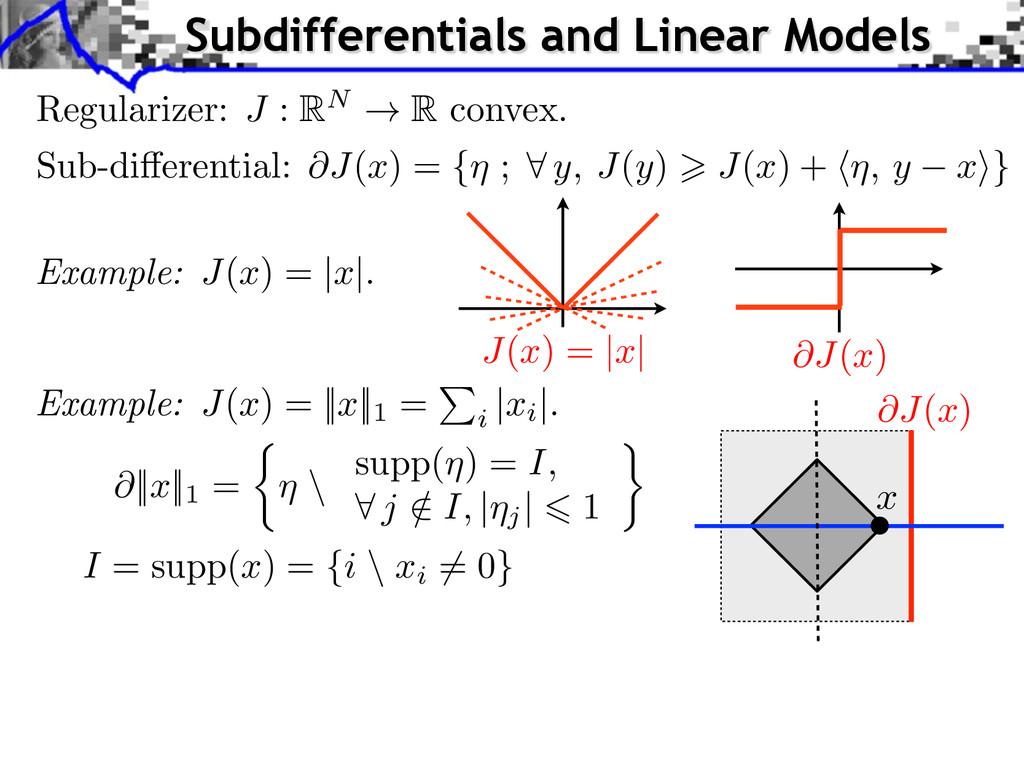 I = supp( x ) = { i \ xi 6= 0} Example: J ( x )...